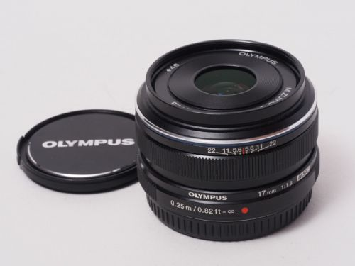 M.ZUIKO DIGITAL 17mmF1.8 ブラック【中古】(L:407)