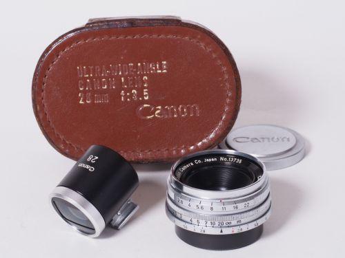 28mmF3.5 ビューファインダー付 Lマウント 【中古】(L:735)